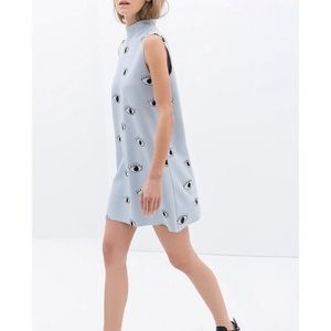 Zara Eye Print Dress Sz S